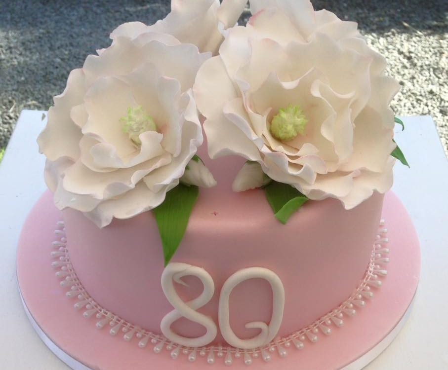 80th birthday party cake