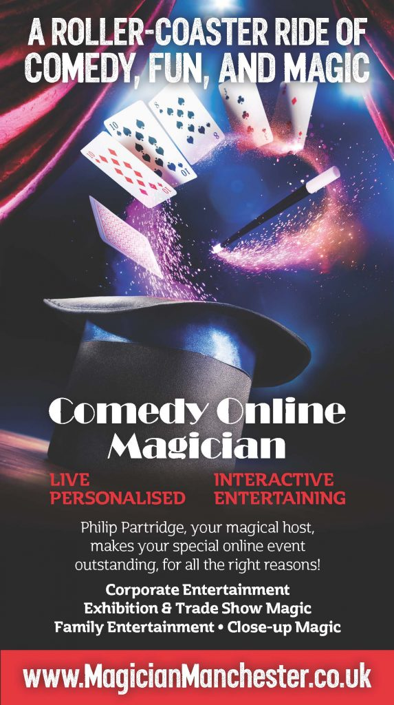 Comedy Online Virtual Zoom Magician FOR ADULTS